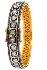 18k Gold Rose Cut Diamond Polki Bangle And Bracelet