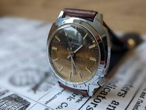 Gents Vintage Superoma De Luxe Sunburst Tigers Eye Dial Sunburst Watch - Working