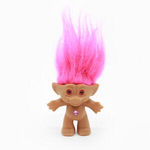 "ACE NOVELTY 3"" Treasure Troll Doll - Pink Hair Star Gem - No Clothes / Naked"