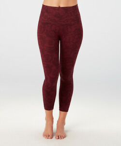 NWT New SPANX Lamn Crop Cropped Leggings Pants Look At Me Garnet Rose XL X Large