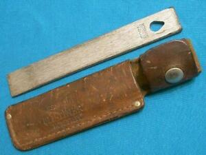 VINTAGE SCHRADE USA HS-1 HS1 OLD TIMER HONESTEEL STEEL KNIFE SHARPENER KNIVES EC