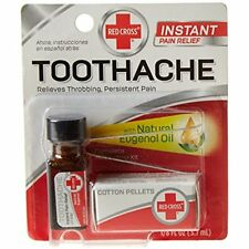 Red Cross Toothache Medication Drops Instant Pain Relief Medicine Eugenol Oil
