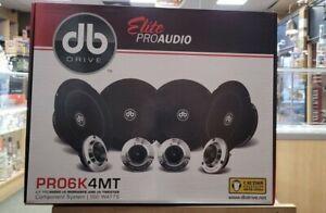 "DB DRIVE Elite Pro6k4W 6.5"" Midrange Component Car Speakers 500 W New"
