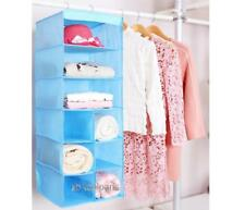 Hanging Shelf Clothes Shirt Wardrobe Storage Closet Organizer 3 layers+6 Cabinet