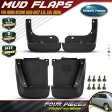 4x Splash Guards Mud Flaps Mudguards for Honda Accord 2003 2004 2005 2006 2007