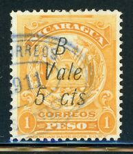 Nicaragua Used Bluefields Specialized: MAXWELL #LB153b 5c/1P Missing Period $$$