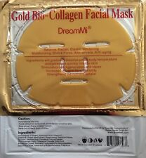 DreamMi®️ 20 Pieces Gold Bio Collagen Facial Face Mask, Repair, EXP:04/2020