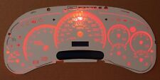 Chevy GMC Truck Cluster White Face Temp 7 Gauge Red LED 03 04 05 06
