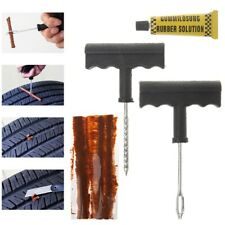 6PCS Auto Car Tubeless Tire Repair Plugs Kit Rasp Needle Patch Fix Tool Bike