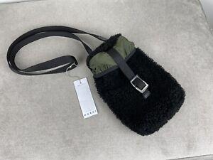 Marni Black Shearling Crossbody Bag