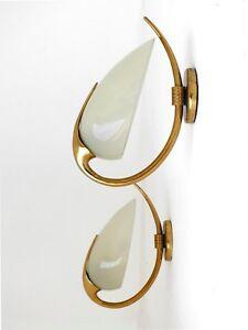 Lumi Italy production two wall lamp Oscar Torlasco design years '50