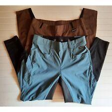 Kerrits Breeches Lot of 2 Women's XL GripTek II Full Seat Blue & Unknown Brown