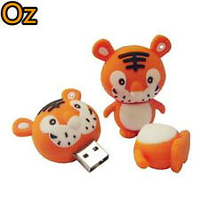 Cartoon Tiger USB Stick, 16GB 3D Quality Product USB Flash Drives weirdland