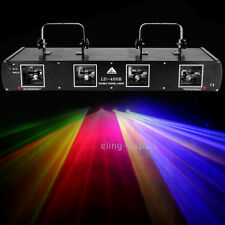 760mW Red Green Blue Yellow Laser Light  4 Lens Beams DMX Auto Stage Club Party