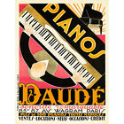 ADVERT MUSIC DAUDE PIANO PIANIST MUSICIAN PARIS FRANCE ART PRINT POSTER 30X40 CM