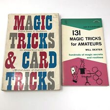 Vtg 1954 Magic Tricks & Card Tricks Wilfrid Jonson & 1958 Magic for Amateurs Pb