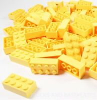 LEGO BRICKS 50 x YELLOW 2x4 Pin -From Brand New Sets Sent in a Clear Sealed Bag