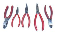 5 Pc Snap On Pliers and Cutters Lot