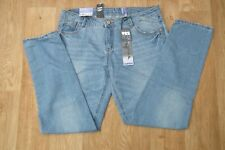 """New Look Yes Yes Relaxed Slim Faded Denim Jeans Sz UK14 EU42 W36"""" Leg 31"""""""