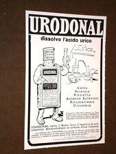 Pubblicità d'epoca per collezionisti Anno 1918 Urodonal Dissolve acido urico