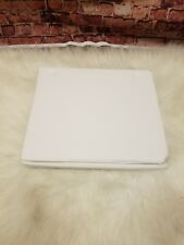 OAKE TWIN XL SOLID FITTED SHEET WHITE 400 TC WRINKLE RESISTANT