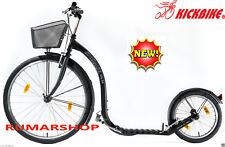 NEW NIEUW ORIGINAL KICKBIKE CITY G4 BLACK + BASKET SCOOTER STEP