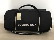 BNWT genuine Country Road woman man unisex canvas Black White tote bag overnight