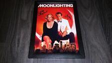 "Moonlighting PP Signed 12""x8"" A4 Photo Poster Bruce Willis Cybill Shepherd"