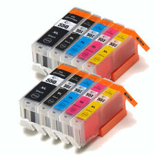 10 Ink Cartridges Canon For PGI550 CLI551 MG5450 MG5550 MG6350 MG7150 Printer