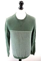 JACK WILLS Mens Jumper Sweater S Small Green Cotton