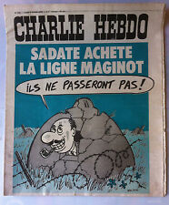 "Charlie Hebdo N°220 du 3/2/1975; ""Sadate achete la ligne Maginot"""