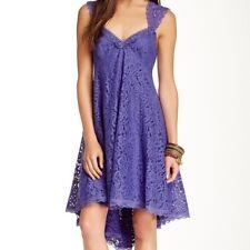 Free People 'Creme De La Creme' Hi Lo Lace Dress 10 NWT! $300