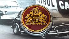 MINI 40 COOPER CLASSIC ROVER NOS MPI BONNET BADGE RARE 1275 S WORKS SPORTSPACK