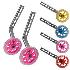 "LED Kids Children Bicycle Bike Cycle Training Wheels Stabilisers 12-20"" Inch UK"