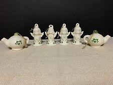 Irish Christmas Ornaments Ceramic Angels Teapots Set of SIX