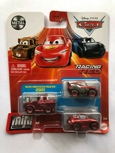 DISNEY PIXAR CARS MINI RACERS RACING RED LIGHTNING McQUEEN, SALLY, MATER