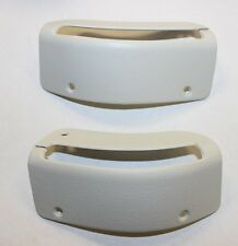 1984-1989 CONVERTIBLE MUSTANG NEW SEAT BELT BEZELS WHITE SOLD AS A PAIR