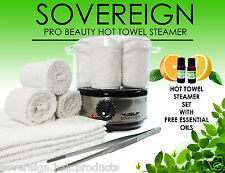 Hot Towel Steamer Set With Free Essential Oils Plus 1 Years Warranty.