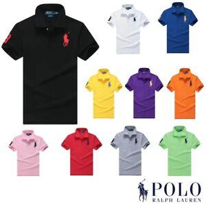 Polo Ralph Lauren Men Shirt Custom Fit Short Sleeve Big Pony