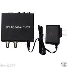 High SDI to VGA+CVBS with SDI Loop-out Converter SD/HD/3G SDI to AV+VGA+SDI Box