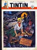 TINTIN    n°  41    (Edition Belge)     du   10  octobre   1951