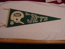 VINTAGE 1960's New York Jets Full Size AFL Green Felt Pennant, VERY RARE!!