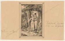 "Adelheid Viertler von Weydach ""Young couple"", drawing, 1815"