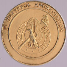 U.S. Army Recruiter Top Hand Award Gold Color  Challenge Coin 1.5 Inch DIA