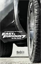 Affiche 120x160cm FAST & FURIOUS 7 (2015) Vin Diesel, Paul Walker, Brewster NEUV