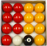 """2"""" RED AND YELLOW SET - QUALITY COMPETITION / MATCH BALLS FOR POOL TABLES"""