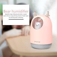 300ml Bear LED Ultrasonic USB Home Air Humidifier Aroma Essential Oil Diffuser