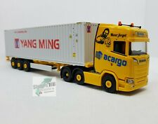 Herpa 312318 Scania CS 20 HD 6x2 Container-Sattelzug acargo Yang Ming 40 ft