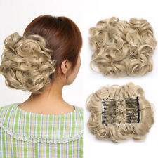 Curly Messy Bun Combs Chignon Scrunchie Updo Cover Hair Extensions Real as human