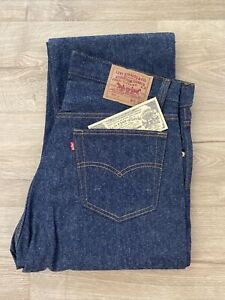 Vintage New LEVIS 501 Shrink to Fit Button Fly Jeans USA 35x36 NOS Deadstock